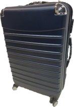 fe83ece2844 reis koffer trolley blauw 75 cm Super Kwaliteit ABS