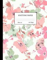 Knitting Paper: Graph Notebook and Journal for Patterns - 4:5 Ratio - 100 pages - Letter Format 8.5''x11'' - Cover Design Code 00045