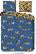 Good Morning Leopards - Dekbedovertrek - Tweepersoons - 200x200/220 cm + 2 kussenslopen 60x70 cm - Blauw