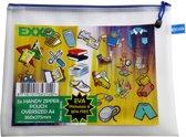 EXXO-HFP #34314 - A4-XL BPA-vrije Opbergtas - Multi-Purpose - Blauwe rits - 5 stuks (1 pak @ 5 stuks)