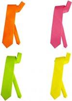 Neon kleur stropdas  fluoriserend groen