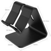 Smartphone dock charger houder - Universele smartphone houder - Voor Iphone / Ipad / Samsung - Telefoonhouder  - ZWART