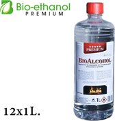 Premium- Bio-ethanol - Bioethanol-100% biobrandstof (12 x 1 liter)