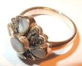 Prachtige zilveren ring met Markasiet maat 17
