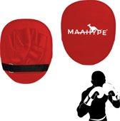 Maahype Bokspads - Mma & UFC - Sparkussen - Hand Pads  - Rood