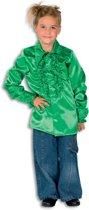 Ruches blouse satijn groen