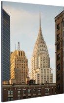 FotoCadeau.nl - Manhattan Wolkenkrabbers Aluminium 80x120 cm - Foto print op Aluminium (metaal wanddecoratie)