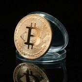 Bitcoin Gold Plated 38mm Collectible BTC Coin 6 stuks