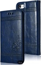 Luxe lederen bookcover / flip case - iPhone 7 / 8 - blauw