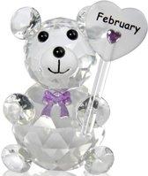 Kristalglas beer geboorte maand februari