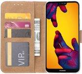 Huawei P20 Lite Smile Design Booktype Kunstleer Hoesje Met Pasjesruimte