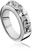 Zinzi - Zilveren Ring - Witte Swarovski Kristal - Maat 54 (ZIR629-54)
