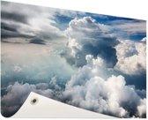 Bewolkt Tuinposter 120x80 cm - Tuindoek / Buitencanvas / Schilderijen voor buiten (tuin decoratie)