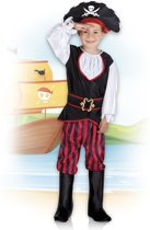 Kinderkostuum Piraat Tom - 10-12 Jaar - Carnavalskleding