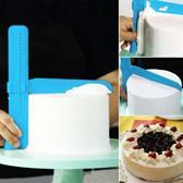 QualityKitchen Gladstrijker - Verstelbaar - Fondant Schraper - Decoratie Versiering - Voor Taart Cake Cupcake Bakken - Soepeler Glad Strijken - Egaliseerder - Lichtblauw