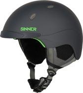 Sinner Titan Unisex Skihelm - Grijs/Neongroen - Maat XL/62 cm