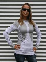 Craft thermo shirt wit met grijs voor dames S