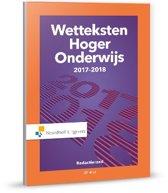 Wetteksten Hoger Onderwijs 2017-2018