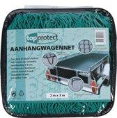 Topprotect Aanhangwagennet - met hoeklussen en elastisch koord - 2x3m