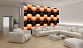 Orange Photomural, wallcovering
