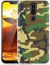 Nokia 8.1 Hoesje Army Camouflage Green