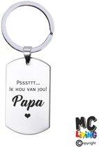Sleutelhanger RVS - Ik Hou Van Jou Papa