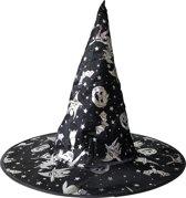 Halloween hoed zwart wit voor kinderen Heksen jurk verkleedkleding