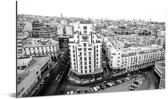 Zwart wit foto van Casablanca Aluminium 80x40 cm - Foto print op Aluminium (metaal wanddecoratie)