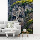 Fotobehang vinyl - De bergen van het Noorse Geirangerfjord breedte 295 cm x hoogte 400 cm - Foto print op behang (in 7 formaten beschikbaar)
