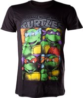 Ninja Turtles T-shirt Zwart Bright Graffiti Maat S