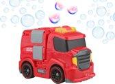 Gadgy® - Zelfrijdende Bellenblaasmachine -  Rode Brandweerauto - Automatische bellenblaas - Met sirene en verlichting-  Inclusief bellenblaas vloeistof