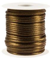 Satijnkoord (2 mm) Brass (25 Meter)