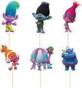Trolls Cupcake Prikkers | Set van 24 Cupcake Prikkers
