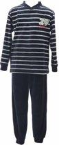 Lunatex velours kinder pyjama 29 9803  - 128  - Groen