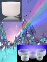 Kristallen klankschalen Chakra SET 2: 7 schalen - 25-35 cm - S