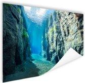 Rotsen onder water Poster 180x120 cm - Foto print op Poster (wanddecoratie) XXL / Groot formaat!