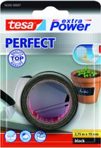 Tesa Extra Power Perfect textieltape zwart 2 75 m x 19 mm