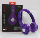 Wireless bluetooth headset koptelefoon S460 Met Fm radio en Geheugen Poort paars