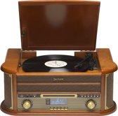 Denver MRD-51 - Retro Platenspeler en DAB+ radio - Hout