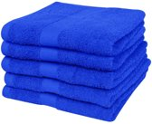Badhanddoekenset 500 gsm 100x150 cm katoen koningsblauw 5-delig