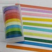 10x Washi Tape Rainbow - Gekleurde Plakband / Masking Decoratie Papier Tape