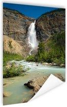 Takakkaw waterval Canada Poster 40x60 cm - Foto print op Poster (wanddecoratie)