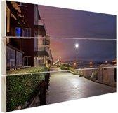 Manhattan Beach Los Angeles Hout 120x80 cm - Foto print op Hout (Wanddecoratie)