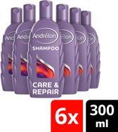 Andrélon Care & Repair Shampoo - 6 x 300 ml - Voordeelverpakking