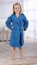 Kinderbadjas met Capuchon Uni Pure 4 Jaar Turquoise col 2334