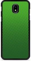 Galaxy J7 2017 Hardcase Hoesje groene cirkels