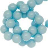 DQ Glaskralen (8 mm) Soft Blue (75 Stuks)