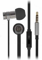 KitSound Nova In-ear Stereofonisch Bedraad Zwart mobiele hoofdtelefoon