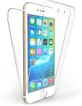 Apple iPhone 6/6s - Volledige 360 Graden Bescherming (Voor en Achterkant) Edged Siliconen Gel TPU Case Screenprotector Transparant Cover Hoesje - (0.5mm)
