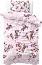 Sleeptime Flower Blush - Dekbedovertrek - Eenpersoons - 140x200/220 + 1 kussensloop 60x70 - Roze